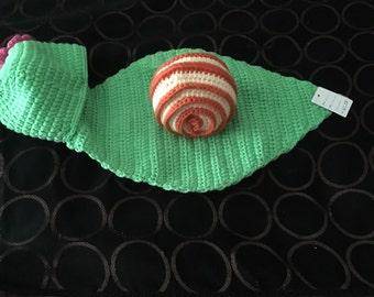 Snail 2pc crochet set