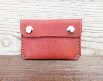 Orange Snap Wallet