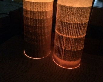 Ombre Book Page Luminaries, romantic wedding, anniversary, engagement decor, bridal shower