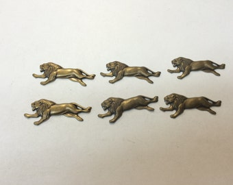 Brass Stamping - Lion - Set of 6