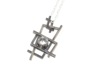 Necklace with pendant «Angular Collection»