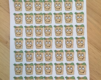 SILLY FACES Grocery Bag Planner Stickers!!