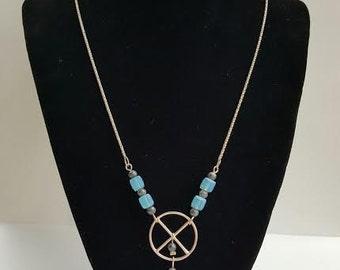 Sky Blue Swarovski Crystal Bead Necklace