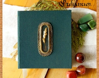 NOT AVAILABLE Green ear journal, nature inspired, grass, summer,  calligraphy