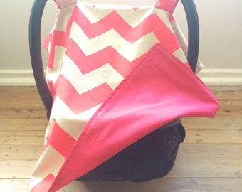 Hot Pink Zigzag Capsule Cover