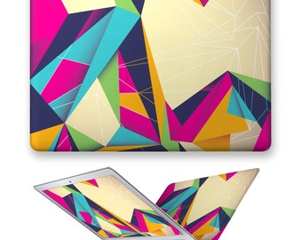 macbook air decal rubberized front hard cover for apple mac macbook air pro touch bar 11 12 13 15 colorful triangle