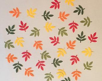 200 Fall Frond Fern Leaf Confetti Fall Shower Confetti Fall Wedding Confetti Birthday Confetti Fall Leaf Confetti Autumn Confetti