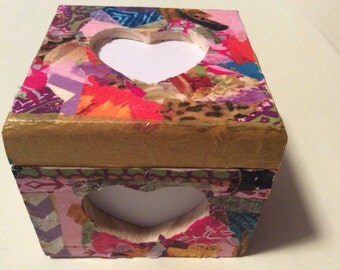 "Beautiful keepsake photo box 4""x4""x2"" - item 2am"
