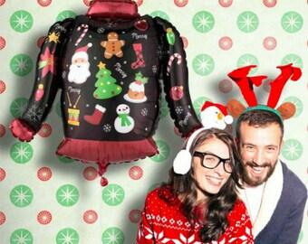 Ugly Christmas sweater balloon, Christmas decoration, christmas Balloon, 31 inch balloon, huge christmas balloon