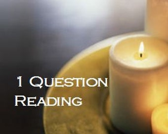 Psychic Readings by Email, Clairvoyant Readings, 1 Question Psychic Reading