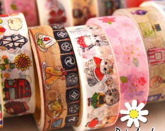 Buy More, Save More! 6 Rolls of Daisyland Washi Tapes of your Choice for 12.99