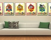 "Paw Patrol Wall Art-Paw Patrol Posters-Paw Patrol Bedroom Printable-8,5x11"" Digital Print- Paw Patrol Instant Download-Paw Patrol Decoration"