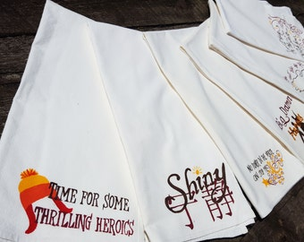 Flour sack towel - choose from six designs - Firefly/Serenity