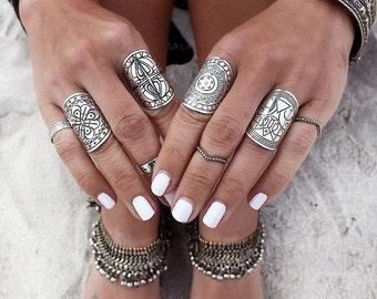4 pc Boho Knuckle Ring Set