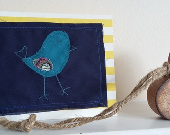 stitched bord greeting card