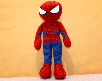 Spiderman Amigurumi Crochet Plush Doll