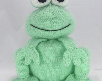 Frog Toilet Roll Holder Knitting Pattern, Bog Frog Knitting Pattern, Frog Knitting Pattern