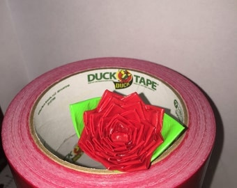 Small Red Duck Tape Rose Pen