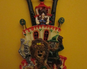 Belle of Lousiville Brooch/Pin with 4 characters from Oz