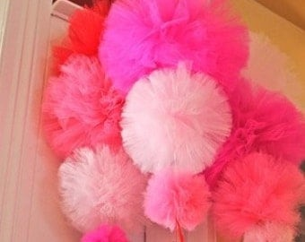 Tulle Pom Poms, Set of 6, Tulle Pom Poms for ANY Occassion!!!