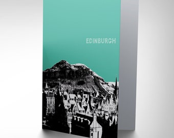Edinburgh Card - Arthur's Seat Scotland Landmark Blank Greetings Card CP135
