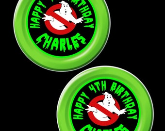 Ghostbuster plates, Ghostbuster plate stickers, Ghostbusters Party, Ghostbuster labels,slimer, party favors, ghostbusters stickers