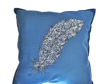 Liberty Print Feather Scatter Cushion - Zoolites