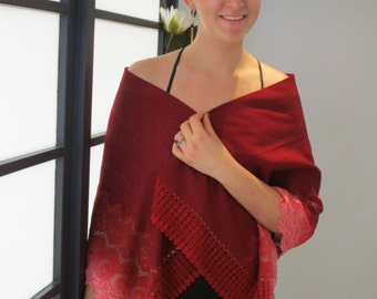 Japanese Vintage Silk Kimono Shawl