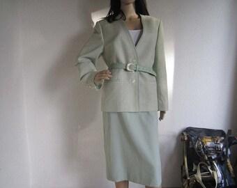 Vintage 80s wool costume costume wool lime Delmod 44/L