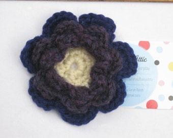 Crochet Anenome Flower Brooch