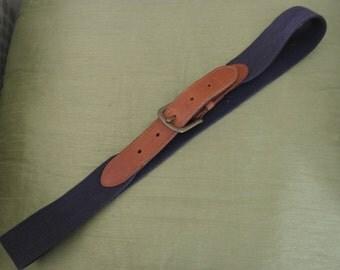 Vintage Navy Blue Belt by Laura Ashley