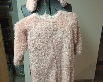 Pink Poodle Costume Child Size 4