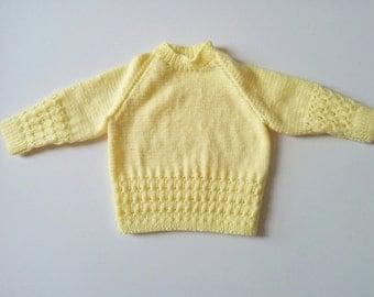 Child's Sweater Yellow