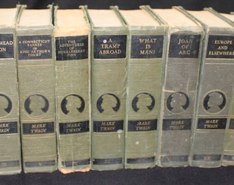 VINTAGE Mark Twain Books – 12 Books Harper and Brothers Authorized Edition: Copyrights range from 1879 - 1935
