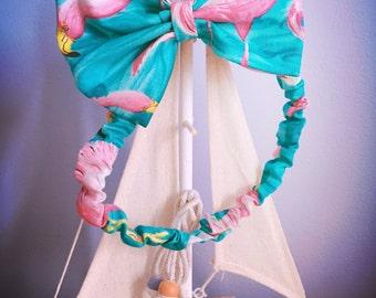 Flamingo headband bow