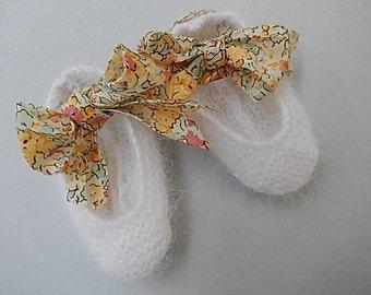 angora baby ballet slippers