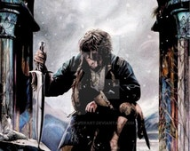Colour drawing of Bilbo - Fine art reproduction