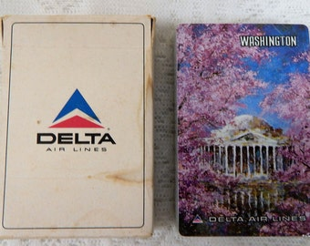 Delta Airlines Washinton DC Playing cards Sealed Deck, Never opened  Hoyle