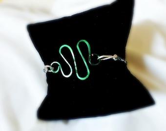 Green Zig-Zag Bracelet