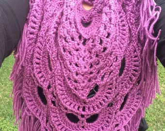 Orchid collor shaw/scarf