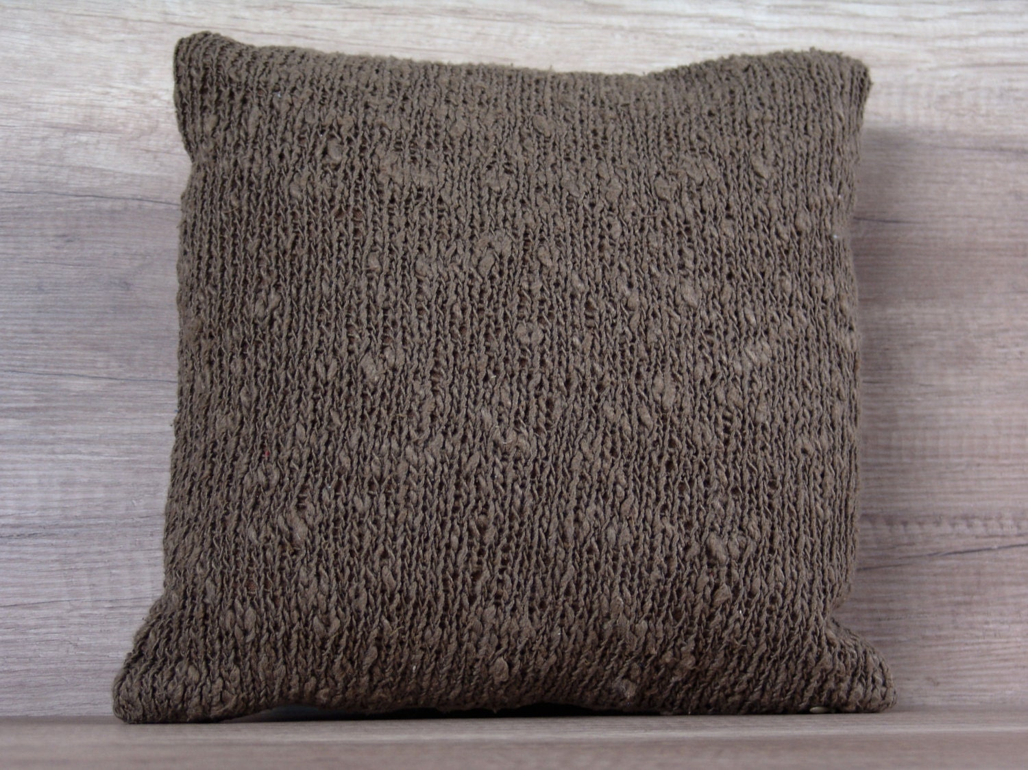 Knitted Euro Pillow Covers Elegant Knit Decorative Throw