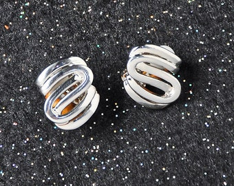 Silver 'S' Earring Studs