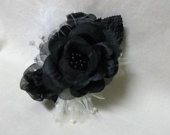 Black Rose Corsage