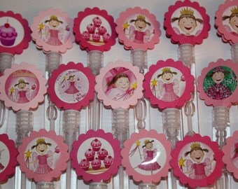 Pinkalicious Mini Bubble Wands birthday party favors - set of 15