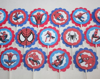 Spiderman Inspired Cupcake Toppers