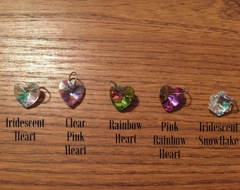 Crystal Heart or Snowflake Charm!
