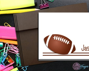 Personalize football Thank You Cards / Custom football Stationery / Personalized sports Stationery Set / Custom sports cards / Set of 12