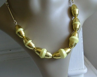 Orig.  Bakelite necklace - chrome - by Jacob kid