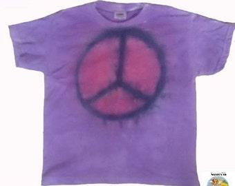Children peace (CND) tie dye t shirt!