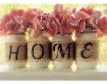 mason jars decor, decorated mason jars housewarming gift, country decor,  rustic decor, home sweet home, Home decor, Home sign